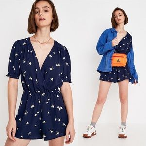 NWOT Urban Outfitters Navy Floral Romper